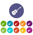 Guitar set icons vector image