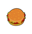 isolated of delicious burger vector image