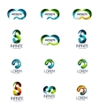 Set of infinity and loop company logos vector image
