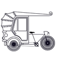 rickshaw india isolated icon design vector image
