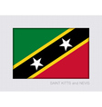 Flag of Saint Kitts and Nevis Flag 2 to 3 vector image