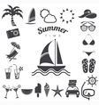 Summer icons set eps10 vector image