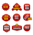 advertising labels vector image