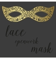 Hand drawn lace openwork gold mask vector image