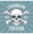 Pirate insignia concept Caribbean tortuga island vector image