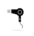 hairdryer in black vector image