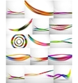 Set of blurred flowing waves backgrounds vector image vector image