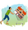 Bying a house vector image