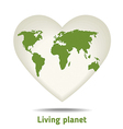 green heart vector image