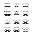 Huge set of mustache vector image