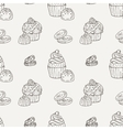 Muffins Seamless Pattern Cakes Sweets vector image