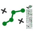 Route Points Icon With Bonus vector image