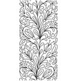 Seamless borders in doodle style Floral vector image
