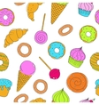 Set of hand drawn food sweets vector image