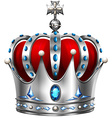 Silver crown on white vector image