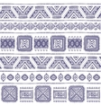 Tribal Aztec vintage seamless pattern vector image