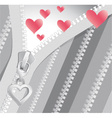 Valentine black-and-white background with red vector image
