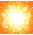 White shining circles and stars orange background vector image