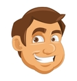 face of man icon vector image
