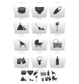 icons set baby toys vector image