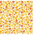 Autumn falling maple and oak leaves seamless vector image