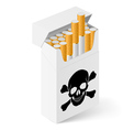 White Pack cigarettes with vector image