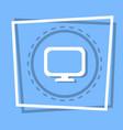 computer screen icon pc monitor web button vector image