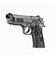 Handgun Beretta Elite vector image