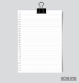 Collection of various white papers ready for your vector image