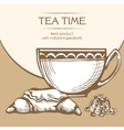 Dessert and coffee or tea vector image