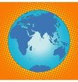 Earth Eurasia Africa Australia Antarctica Asia vector image