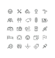 Road and auto line icons vector image