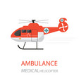ambulance helicopter emergency medical service vector image