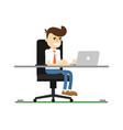 businessman work on laptop icon vector image