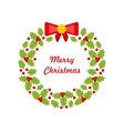 Christmas Wreath Made of Holly Berries vector image