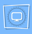 computer screen icon pc monitor web button vector image