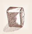 dispenser for napkins with press sketch style vector image
