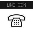 isolated dial outline call element can be vector image