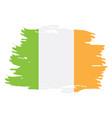 isolated irish flag vector image