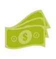 money bills cash dollar design vector image