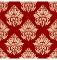Retro damask style arabesque pattern vector image
