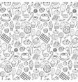 Sweets doodle seamless pattern vector image