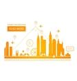 Urban Landscape Real Estate vector image