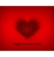 Valentines composition of the hearts vector image