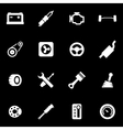 white car parts icon set vector image