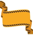 road sign banner warning construction icon vector image