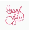 thank you hand lettering - handmade calligraphy vector image