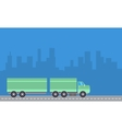 Container truck with blue backgrounds vector image
