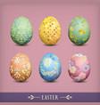 set of vintage easter eggs vector image vector image