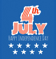the celebration of the independence day vector image